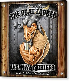 The Goat Locker Acrylic Print by Patriot 1