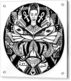 The Goddess And The Butterfly Acrylic Print by Kenal Louis