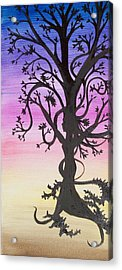 The Goddess Tree Acrylic Print by Amy Lauren Gettys