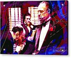 The Godfather Kiss Acrylic Print by David Lloyd Glover