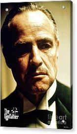 Marlon Brando As Mario Puzo's, Don Vito Corleone, The Godfather Acrylic Print