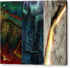 The Gods Triptych 1 Acrylic Print by Ken Walker