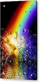 The Gold At The End Of The Rainbow Acrylic Print by Robby Donaghey