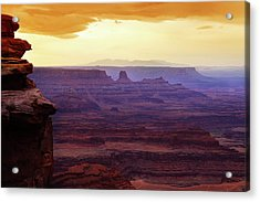 The Gold Light Of Dawn Acrylic Print