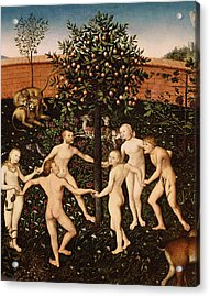 The Golden Age Acrylic Print by Lucas Cranach