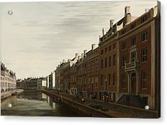 The Golden Bend In The Herengracht, Amsterdam, Seen From The West, 1672 Acrylic Print