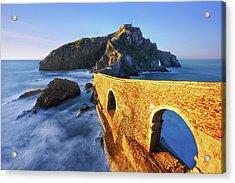The Golden Bridge Acrylic Print