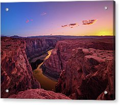 Acrylic Print featuring the photograph The Golden Canyon by Edgars Erglis