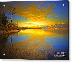 The Golden Clouds Of Winter Acrylic Print