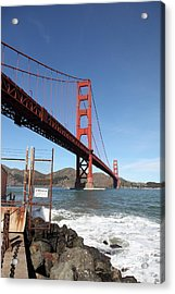 The Golden Gate Bridge At Fort Point - 5d21473 Acrylic Print by Wingsdomain Art and Photography