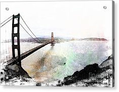 The Golden Gate From The Marin Headlands Acrylic Print