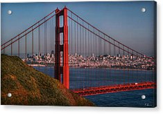 The Golden Gate Acrylic Print by Hanny Heim
