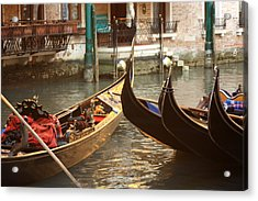 The Golden Gondola Acrylic Print by Michael Henderson