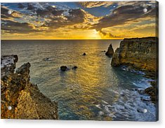 Acrylic Print featuring the photograph The Golden Hour - Cabo Rojo - Puerto Rico by Photography By Sai