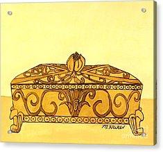 The Golden Jewelry Box Acrylic Print by Marsha Heiken