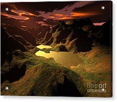The Golden Lake Acrylic Print by Gaspar Avila