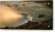 The Golden Mist Of Niagara Acrylic Print