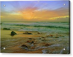 Acrylic Print featuring the photograph The Golden Moments On Molokai by Tara Turner