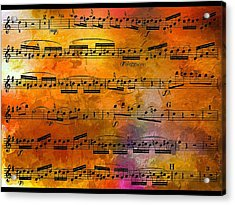 The Golden Music Of Motzart Acrylic Print