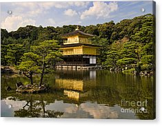 The Golden Pagoda In Kyoto Japan Acrylic Print by David Smith