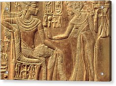 The Golden Shrine Of Tutankhamun Acrylic Print by Egyptian Dynasty