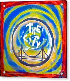 The Golden State City #1 Acrylic Print by Tony B Conscious