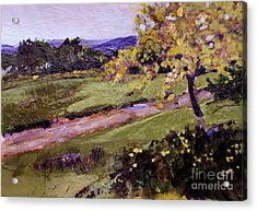 Acrylic Print featuring the painting The Golden Tree by Diane Ursin