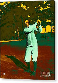 The Golfer - 20130208 Acrylic Print by Wingsdomain Art and Photography