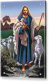 The Good Shephard Acrylic Print by Valer Ian