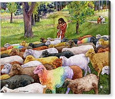 The Good Shepherd Acrylic Print by Anne Gifford