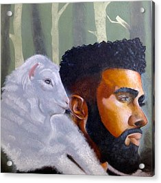 The Good Shepherd  Acrylic Print by Christopher Marion Thomas