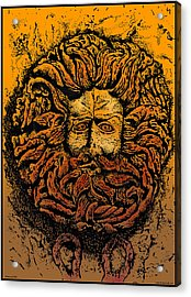 The Gorgon Man Celtic Snake Head Acrylic Print by Larry Butterworth