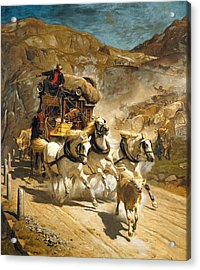 The Gotthard Post Acrylic Print by Rudolf Koller