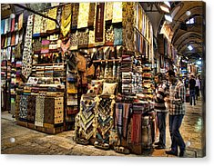The Grand Bazaar In Istanbul Turkey Acrylic Print by David Smith
