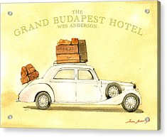 The Grand Budapest Hotel Watercolor Painting Acrylic Print