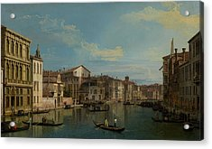 The Grand Canal In Venice From Palazzo Flangini To Campo San Marcuola Acrylic Print by Mountain Dreams