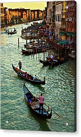 Acrylic Print featuring the photograph The Grand Canal Venice by Harry Spitz