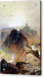 The Grand Canyo Acrylic Print by Thomas Moran