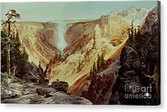 The Grand Canyon Of The Yellowstone Acrylic Print by Thomas Moran