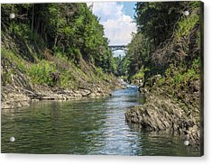 Acrylic Print featuring the photograph The Grand Canyon Of Vermont by John M Bailey