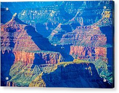The Grand Canyon Peaks Acrylic Print by Alex Grichenko