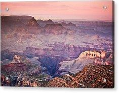 The Grand Canyon  South Rim At Dusk Acrylic Print by Ryan Kelly