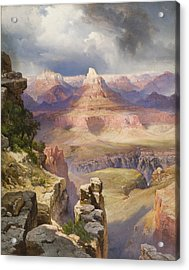 The Grand Canyon Acrylic Print by Thomas Moran