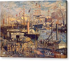 The Grand Dock At Le Havre Acrylic Print by Monet