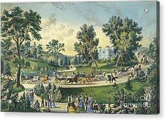 The Grand Drive, Central Park, New York, 1869 Acrylic Print