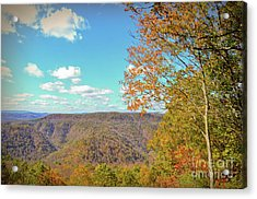 Acrylic Print featuring the photograph The Grand Finale - Autumn At Pipestem State Park by Kerri Farley