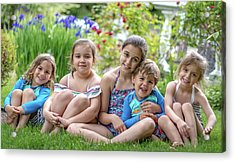 The Grand Kids In The Garden Acrylic Print