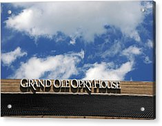 The Grand Ole Opry Nashville Tn Acrylic Print by Susanne Van Hulst