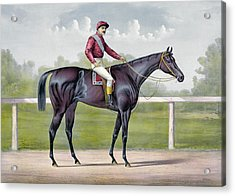 The Grand Racer Kingston  Acrylic Print by Currier and Ives