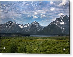 Acrylic Print featuring the photograph The Grand Tetons by Shane Bechler